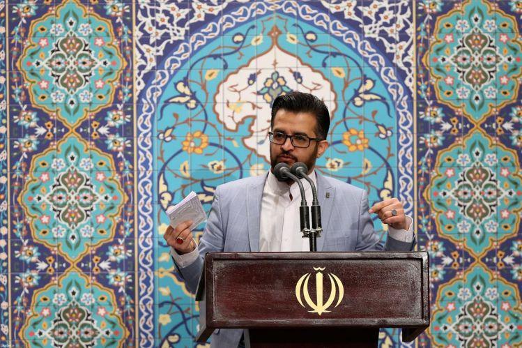 مداحی حاج جعفر ملائکه از مشهد مقدس در محضر رهبر انقلاب