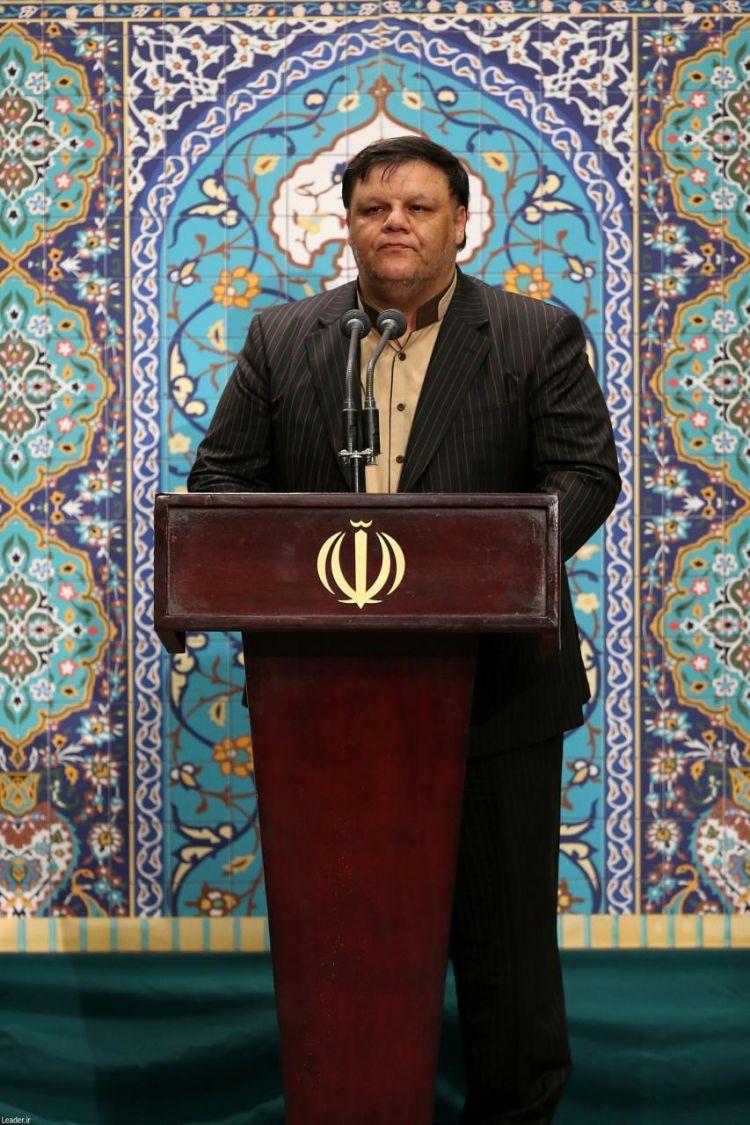 مداحی حاج سیدصادق عبادی از استان البرز در محضر رهبر انقلاب